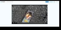 Still shot from video of NCS material burning.