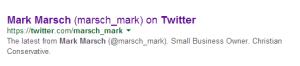 mark marsch twitter listing