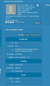 ChocoThaiDub profile as found at Rainbowbackyard.com an LGBT website.