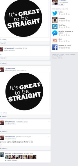 Sean's fiance, Noel Davis belongs to this Facebook group.